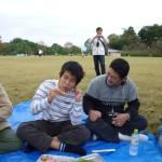 江川さんと一緒にともくんも頑張って食べます