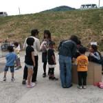 遊びのコーナーも子供たちの笑顔でいっぱいです