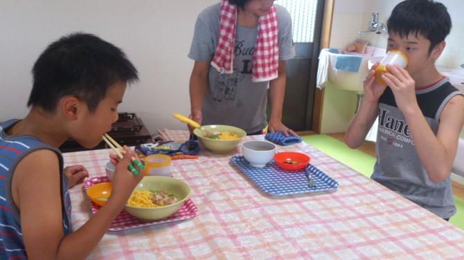 8月7日(火)今日も晴れ!今日の放課後デイサービスの子供たちの様子です