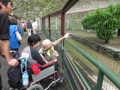お城内の動物園にも立ち寄りました