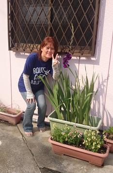 まごころランドの花壇にグラジオラスが咲きました